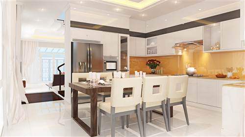 Phòng bếp sang trọng và hiện đại